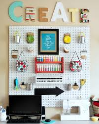 Craft Room Images by Craft Room Wall With Whites And Brights