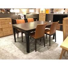 extending table skovby sm26 smoked oak extending table u0026 4 chairs u0026 sideboard