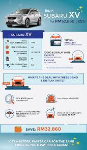 subaru malaysia buy a subaru xv for rm32 860 less imoney