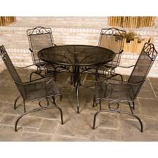 Wrought Iron Patio Tables Enchanting Outdoor Furniture Wrought Iron Dining Sets Cast Iron