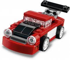 lego porsche minifig scale bricker конструктор lego 31055 красная гоночная машина red