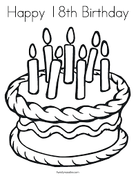happy 18th birthday coloring twisty noodle