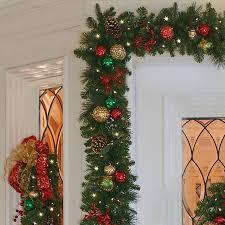 9 pre lit merry bright garland improvements catalog