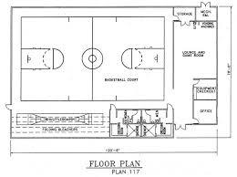 basketball gym floor plans church plan 117 lth steel structures