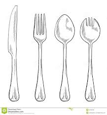 kitchen forks and knives utensils drawing easy clipartxtras