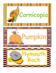 thanksgiving word wall or vocabulary cards by allison s awesome