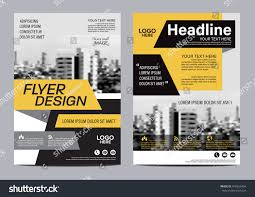 yellow flat modern brochure layout design stock vector 478353454