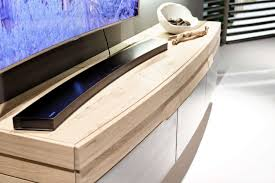 rounded designer oak entertainment unit modern oak tv unit
