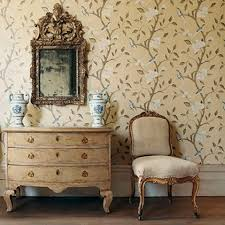 traditional wallpaper patterned gustavus zoffany