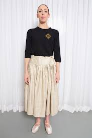 silk skirt midi skirt in peace ahimsa silk mandali mendrilla