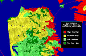 San Francisco City Map by Earthquake Ground Shaking In The San Francisco Bay Region Page 3 04