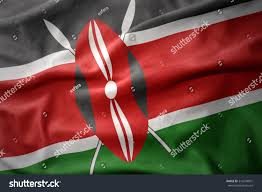 Flag Of Kenya Waving Colorful National Flag Kenya Stock Illustration 516294991