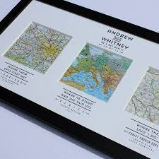 Personalized World Map by Personalised Map Art Lovely Wedding Gift Idea From Not On The