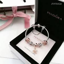 pandora silver bracelet with charms images Pandora bracelet with rose gold theme 5 charms jpg