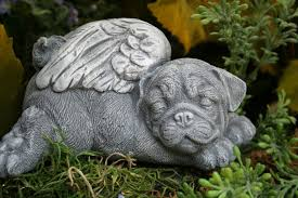 pug statue pet memorial garden sculpture pug garden