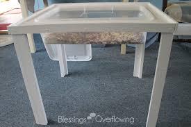 how to build a sensory table homemade sensory table
