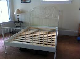Shabby Chic White Bed Frame by Leirvik Bed Frame White Ikea Bed Frames Ikea Bed And Bed Frames
