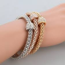 silver rose gold plated bracelet images Exquisite 3 piece bracelet bangles real 18k gold silver rose and jpg