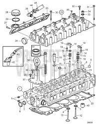 volvo penta exploded view schematic cylinder head exchange d4