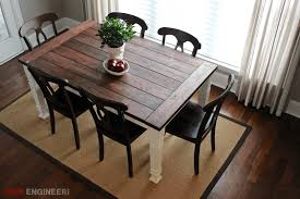 DIY Farmhouse Table Free Plans Rogue Engineer - Dining room table for 2