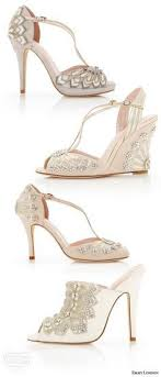 wedding shoes embellished heel 11 gorgeous vintage inspired wedding shoes wedding heels