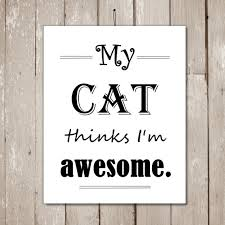 Awesome Quotes About Cats Being - cat printable cat quotes cat lover gift cat wall art funny wall