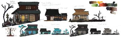 japanese town u2013 buildings concept art u2013 running in the hamster wheel