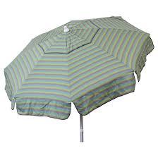 Tilting Patio Umbrella 6 Italian Stripe Aluminum Collar Tilt Patio Umbrella Blue Taupe
