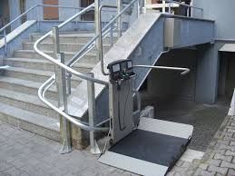 Garaventa Stair Lift by Inclined Curved Platform Lift For Disabled Access In Your Home Or