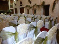 Chair Covers By Sylwia White Stretch Chair Covers With Red Sashes Surrounded A Table