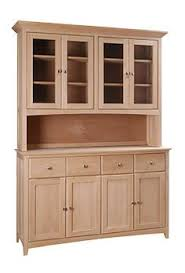 Kitchen Buffet Cabinets American Shaker Buffet And Hutch Natural Cherry Wood China