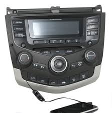honda accord 2003 07 radio am fm 6 cd w aux input temp ctrls 39175