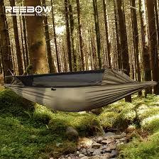 reebow tactical hammock gauze mesh hammock sbs two side zipper
