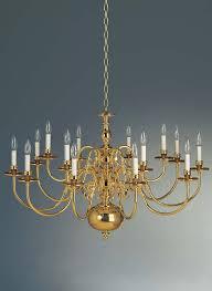 Delft Chandelier 2415 10 5 Holtkotter Lighting 18th Century Flemish 15 Light Chandelier