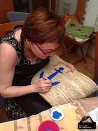 tutorial decoupage en mimbre capazo personalizado chica playa tonos azul bag manualidades and
