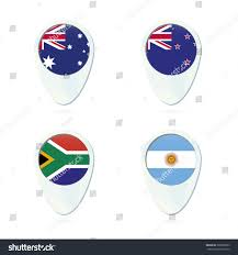 The New South African Flag Australia New Zealand South Africa Argentina Stock Vector