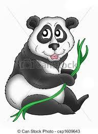 drawings of panda color illustration of panda bear csp1609643