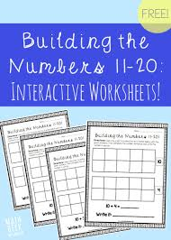 Base Words Worksheets Building The Numbers 11 20 Free Printables