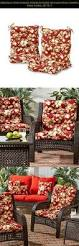 Outdoor Furniture Foam by Chair Cushion High Back Support Seat Pad Non Slip Patio Outdoor