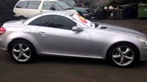 2005 mercedes benz slk r171 350 silver 6 speed manual convertible