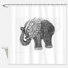 modern elephant shower curtains cafepress