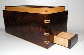 Bedroom Sets With Secret Compartments Custom Walnut And Curly Maple Men U0027s Watch Box With Hidden Drawer