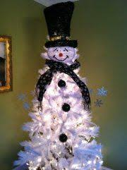 snowman christmas tree craft of the season frosty the snowman christmas tree