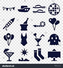 holiday icons set set 16 holiday stock vector 654949930 shutterstock