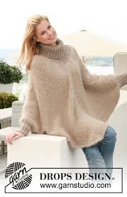 drops design poncho hometown drops 123 28 free knitting patterns by drops design