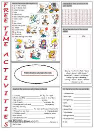 free time activities vocabulary exercises hobbies and free time