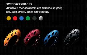driven colored rear sprocket for bst marchesini wheels