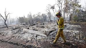 California Wildfire Dateline by California Wildfire Firefighters Gain Ground But Thousands Of