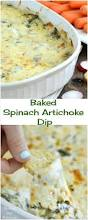 Dip For Thanksgiving Baked Spinach Artichoke Dip Recipe