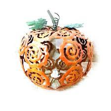 led pumpkin tea lights battery operated hollow pumpkin lantern metal led pumpkin halloween